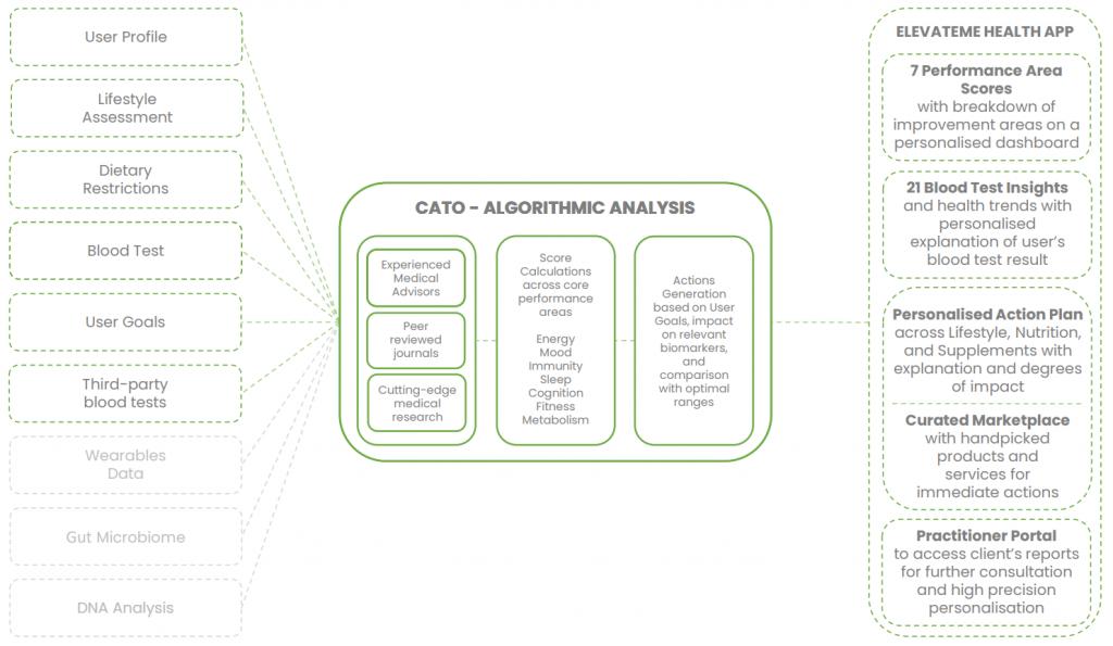 Cato - ElevateMe health app intelligent action engine