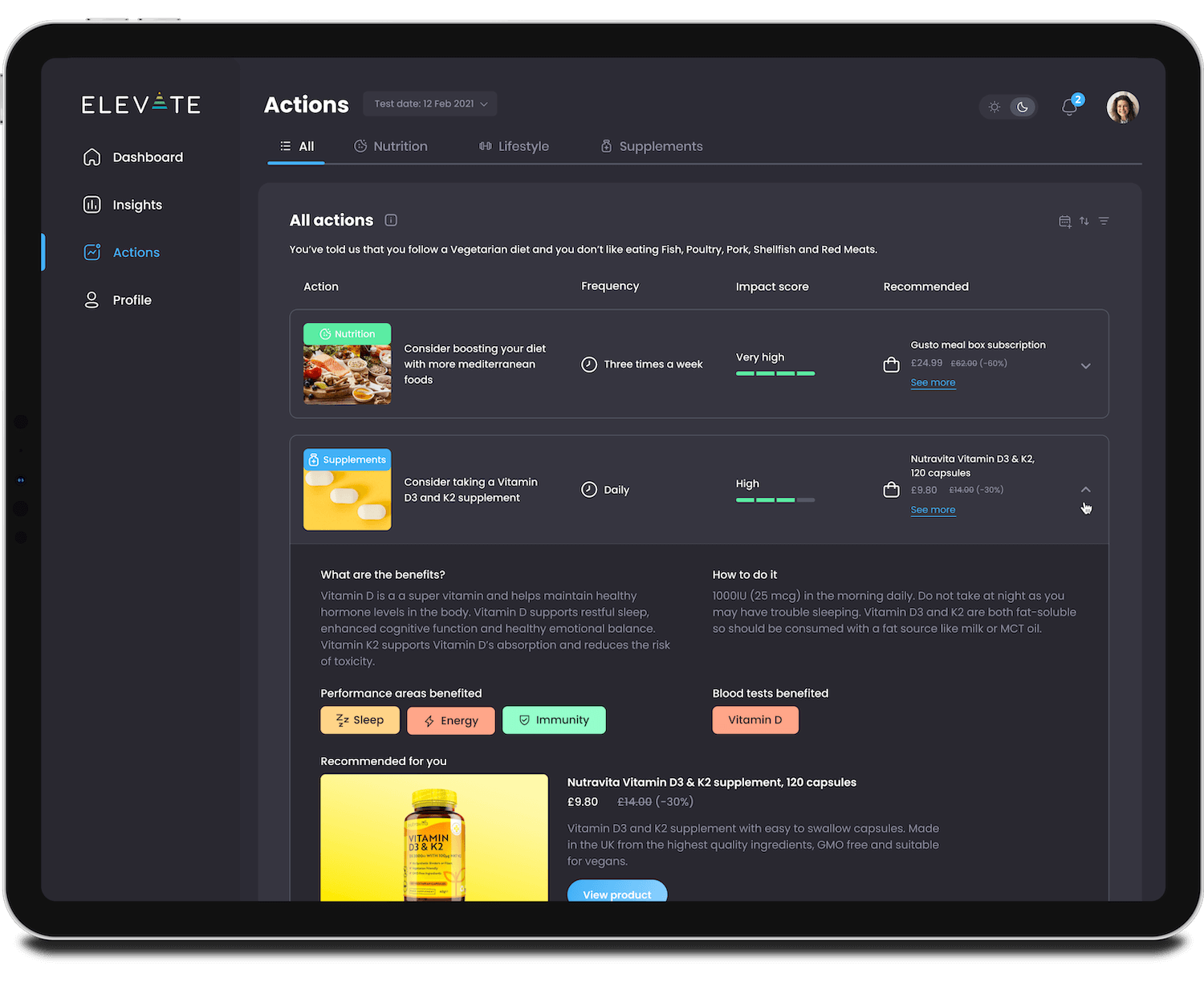 Elevate-Collective-health-performance-dashboard